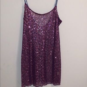 Free People Intimately Sheer Sequin Slip Dress